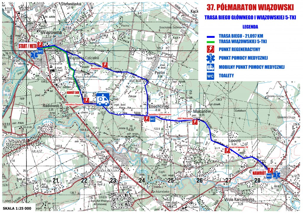 polmaraton - trasa biegu