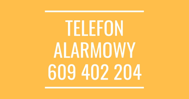 telefon alarmowy609 402 204