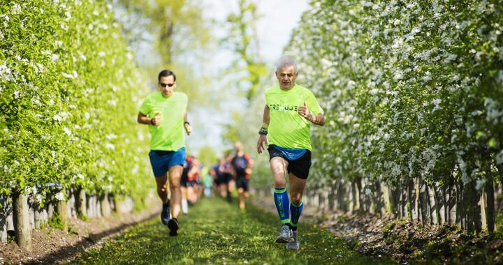 Trening do Półmaratonu Wiązowskiego w SadSzwedo w Wiązownie